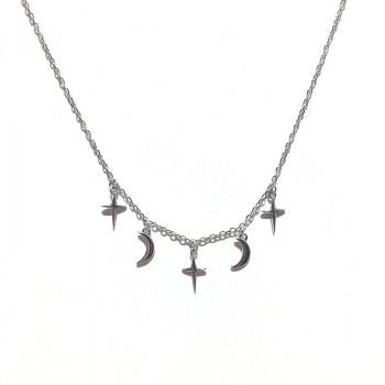 Colier minimalist argintiu