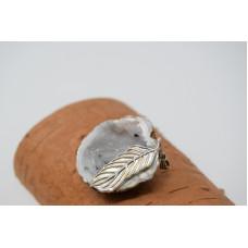 Pandantiv geodă agată cu cristal de cuarț